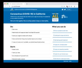 ca.gov coronavirus website screenshot