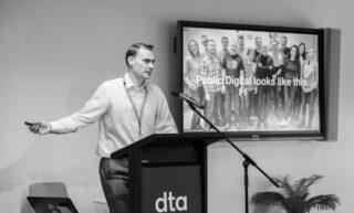 Andrew presenting in Australia