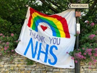 A banner saying 'Thank you NHS'